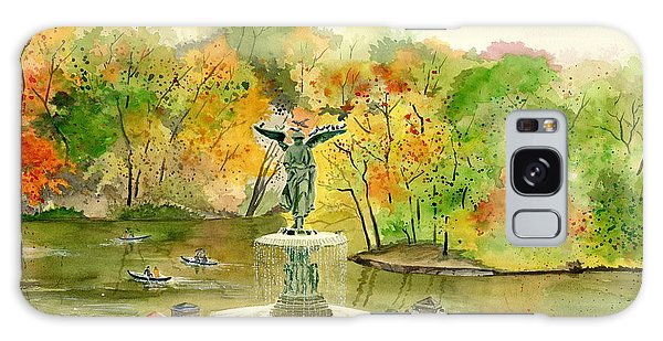 Autumn At Central Park Ny Galaxy Case by Melly Terpening