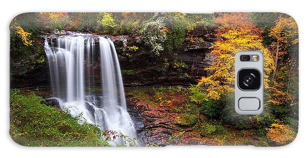 Foliage Galaxy Case - Autumn At Dry Falls - Highlands Nc Waterfalls by Dave Allen