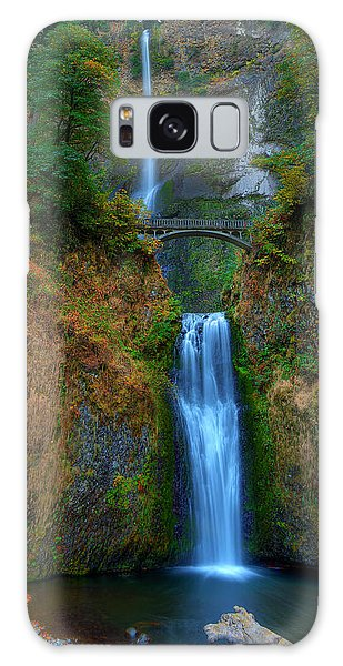 Autumn At Multnomah Falls Galaxy Case