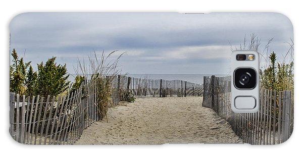 Autumn At The Beach Galaxy Case