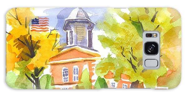 Autumn At The Courthouse Galaxy Case
