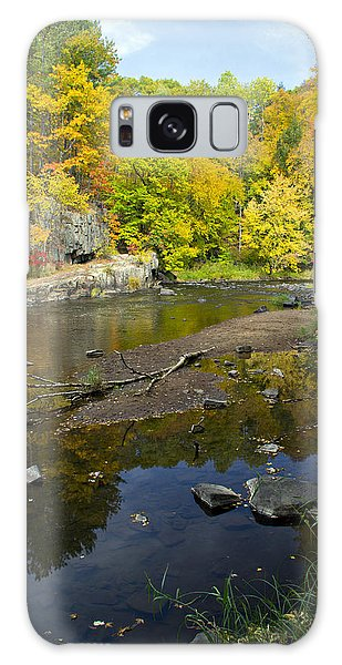 Autumn At The Dells Of The Eau Claire Galaxy Case by Judy  Johnson