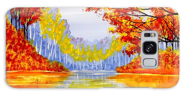 Autumn At The Lake Galaxy Case by Darren Robinson