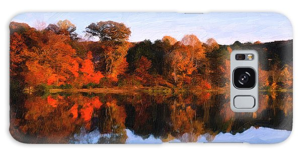 Autumn At The Lake Galaxy Case by Spyder Webb
