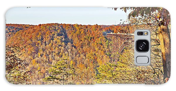 Autumn At The New River Gorge Single-span Arch Bridge Galaxy Case