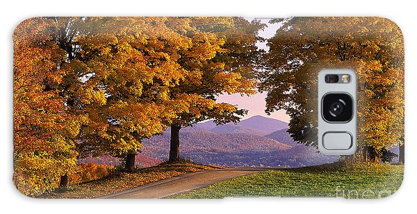 Autumn Backroad View Galaxy Case by Alan L Graham