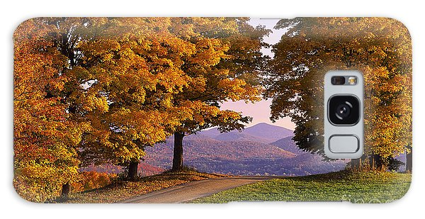 Autumn Backroad View Galaxy Case