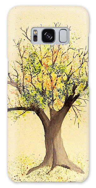 Autumn Backyard Tree Galaxy Case