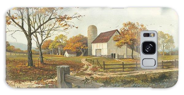 Autumn Barn Galaxy Case by Michael Humphries
