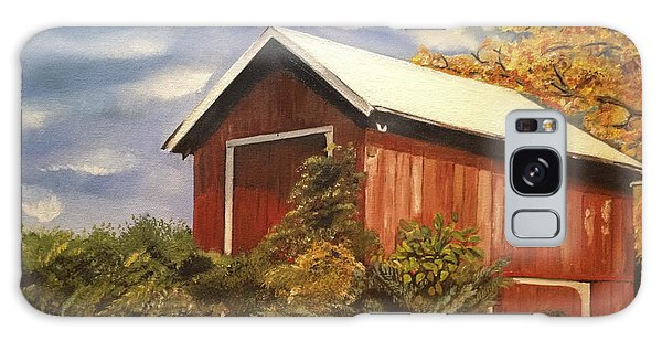 Autumn - Barn - Ohio Galaxy Case by Jan Dappen