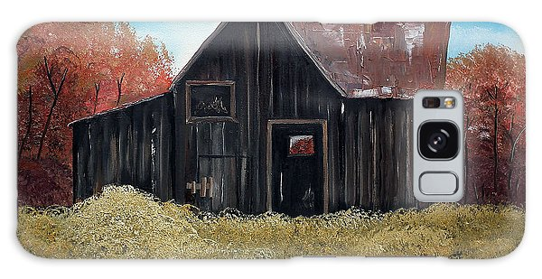 Autumn - Barn -orange Galaxy Case