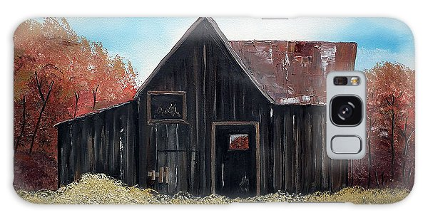 Autumn - Barn -orange Galaxy Case by Jan Dappen