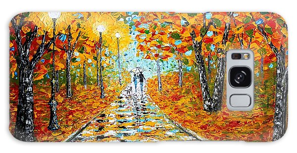 Autumn Beauty Original Palette Knife Painting Galaxy Case