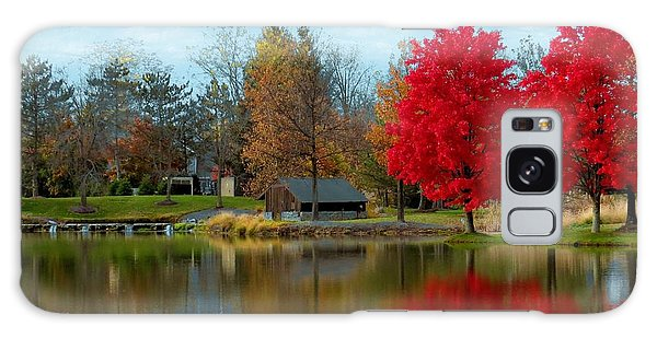 Autumn Beauty On A Pond Galaxy Case by Ron Grafe