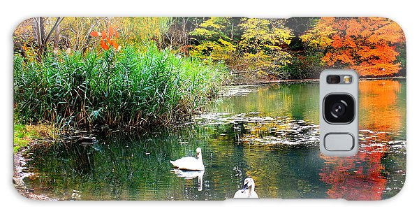 Autumn By The Swan Lake Galaxy Case by Dora Sofia Caputo Photographic Art and Design