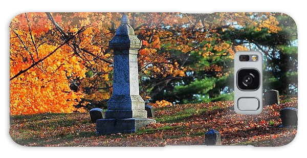 Autumn Cemetery Visit Galaxy Case