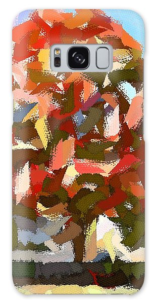 Autumn Color Riot Abstract Galaxy Case