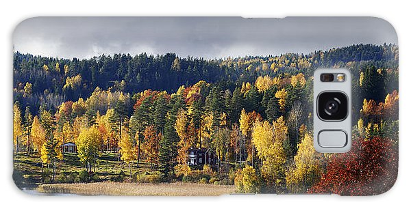 Autumn Colored Nature And Landscape Galaxy Case by Christian Lagereek