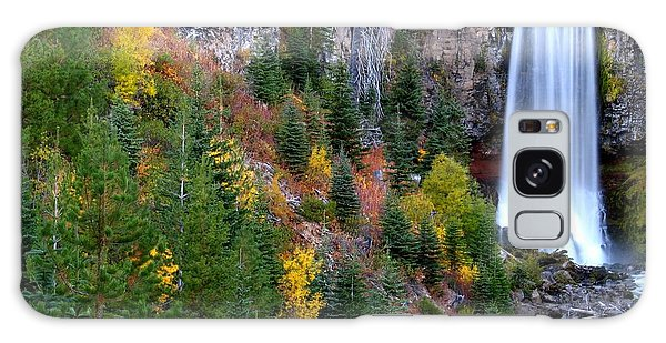 Autumn Colors Surround Tumalo Falls Galaxy Case