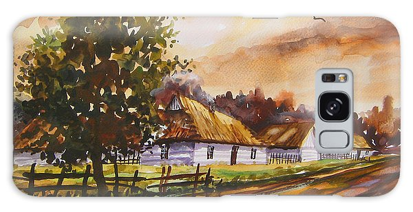 Autumn Cottages Galaxy Case