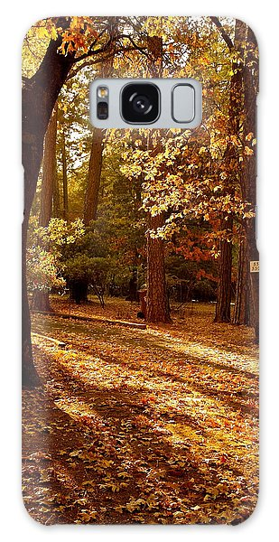 Autumn Country Lane Evening Galaxy Case