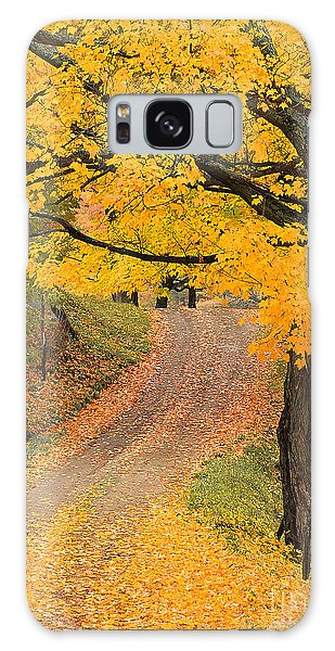 Autumn Country Road Galaxy Case by Alan L Graham
