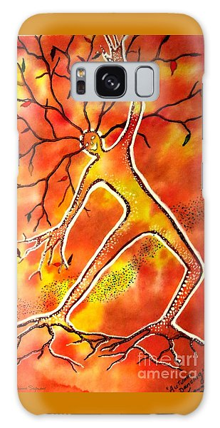 Autumn Dancing Galaxy Case by Leanne Seymour