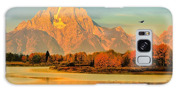 Autumn Dawn At Oxbow Bend Galaxy Case