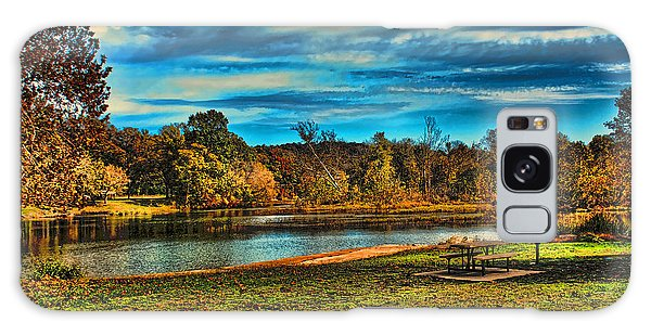 Autumn Day On The River Galaxy Case