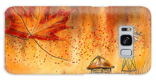 Maple Leaf Art Galaxy Case - Autumn Dreams- Autumn Impressionism Paintings by Lourry Legarde