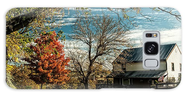 Autumn Farm House Galaxy Case