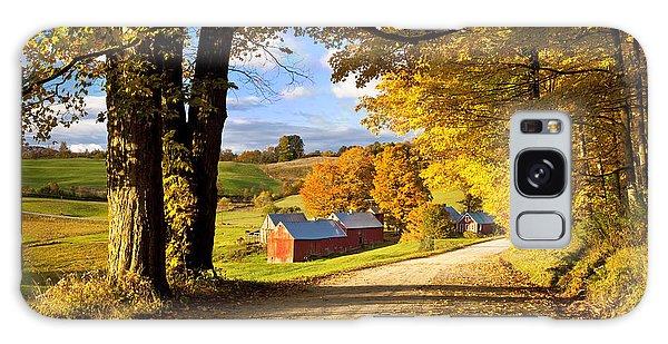 Autumn Farm In Vermont Galaxy Case by Brian Jannsen
