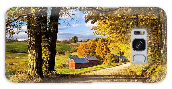 Autumn Farm In Vermont Galaxy Case