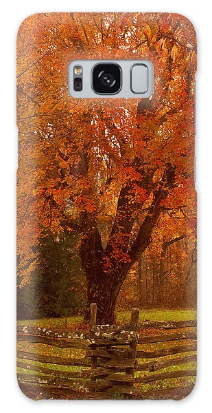 Autumn Fences Smoky Mountain National Park Galaxy Case