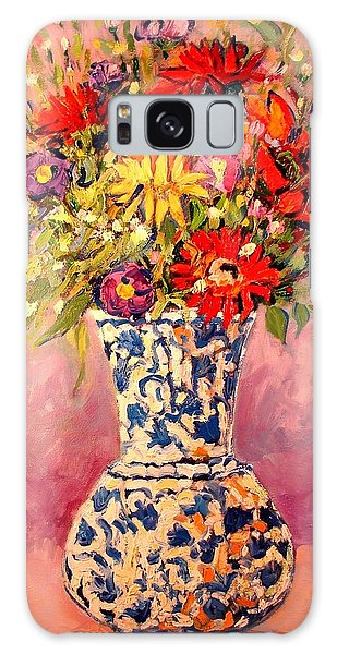 Autumn Flowers Galaxy Case by Ana Maria Edulescu