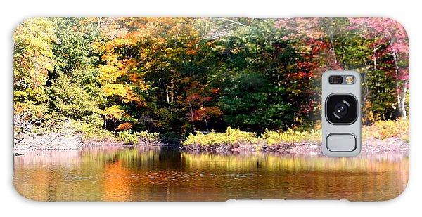 Autumn Foliage Over A Pond Galaxy Case