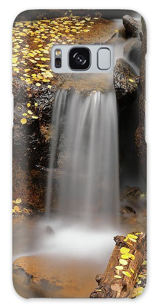 Autumn Gold And Waterfall Galaxy Case