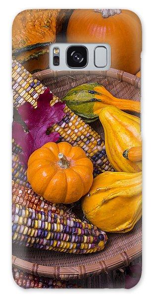 Indian Corn Galaxy Case - Autumn Harvest Still Life by Garry Gay