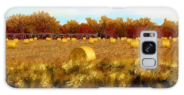 Autumn Hay Galaxy Case by Ric Darrell
