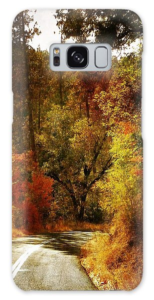 Autumn Highway Galaxy Case