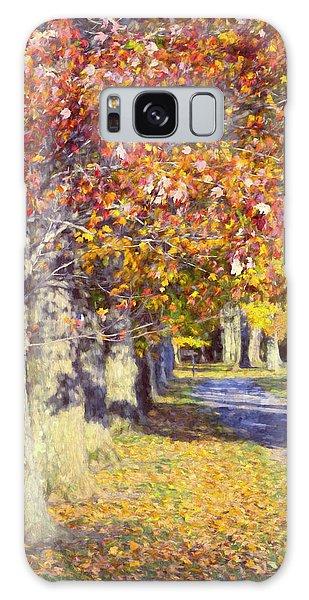 Autumn In Hyde Park Galaxy Case