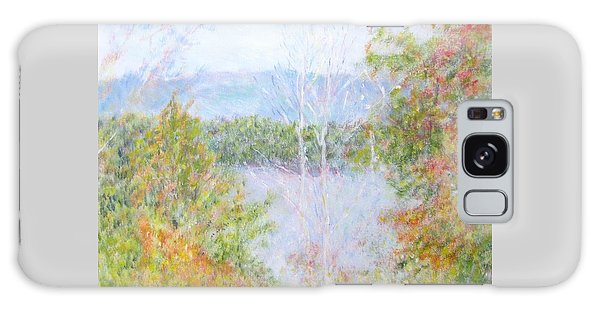 Autumn By The Lake In New Hampshire Galaxy Case