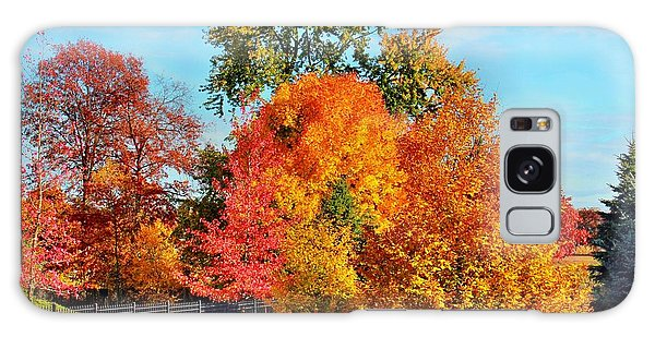 Autumn In The Air Galaxy Case by Judy Palkimas
