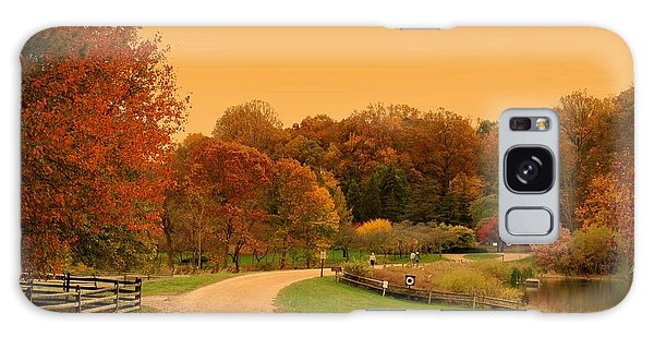 Autumn In The Park - Holmdel Park Galaxy Case