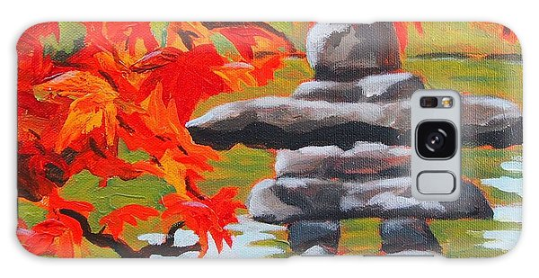 Autumn Inukshuk Galaxy Case by Janet McDonald