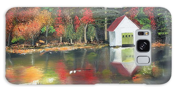 Galaxy Case featuring the painting Autumn - Lake - Reflecton by Jan Dappen