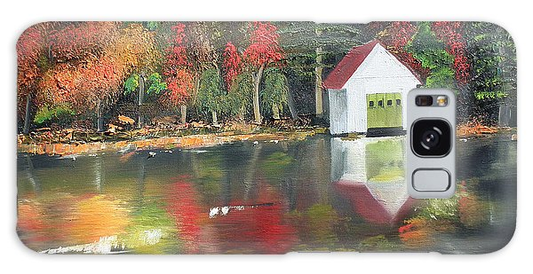 Autumn - Lake - Reflecton Galaxy Case by Jan Dappen