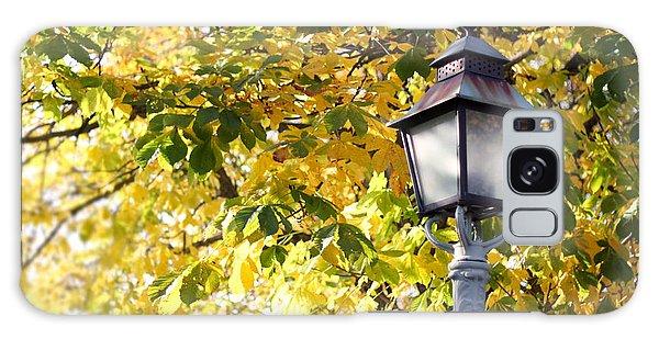 Autumn Lamp Post Galaxy Case