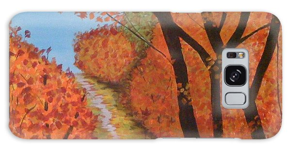 Autumn Lane Galaxy Case by Judi Goodwin