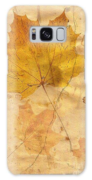 Autumn Leaf In Grunge Style Galaxy Case